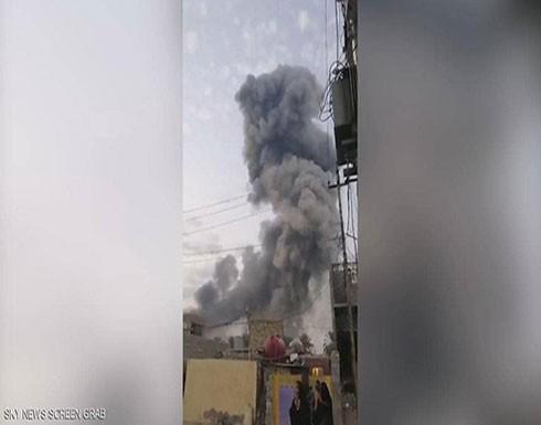 """بالفيديو : العراق.. انفجار بمخزن أسلحة تابع لمليشيات """"الحشد الشعبي"""""""