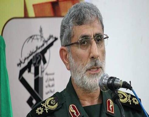 أول تصريح لقائد فيلق القدس حول احتراق حاملة الطائرات الأمريكية