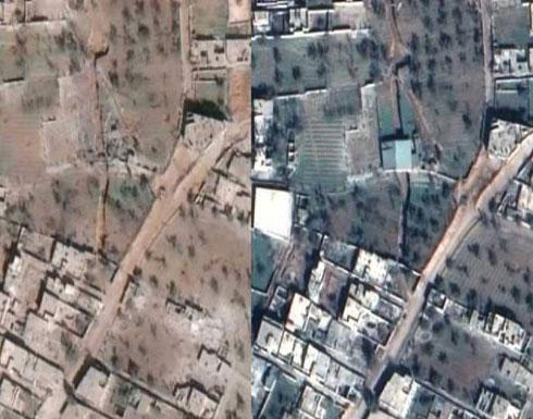 مأساة الغوطة الشرقية.. بأحدث صور القمر الصناعي