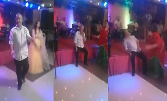 فيديو| لحظة وفاة مفاجئة لرجل أثناء رقصه إلى جانب عروس بحفل زفاف!