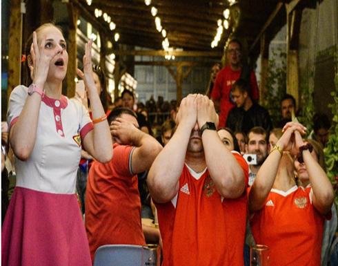 سوريون يبتهجون بخسارة روسيا في كأس العالم