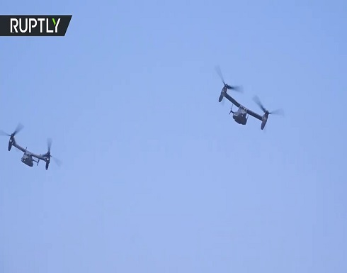 شاهد : رصد طائرات أمريكية حربية في أجواء العاصمة الأوكرانية