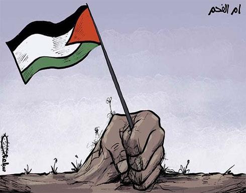 أم الفحم ترفع العلم الفلسطيني…