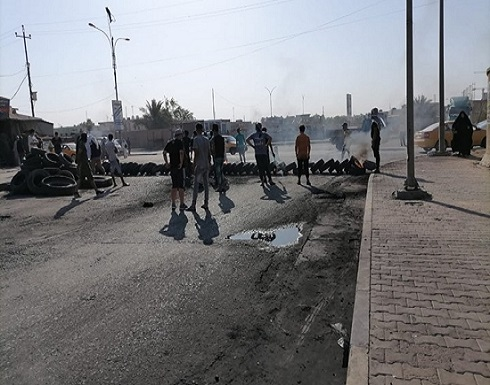 احتجاجات بجنوب العراق وغلق طرق بسببب أزمة الكهرباء (شاهد)