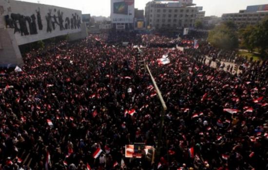 الأمن يمنع المتظاهرين من اقتحام المنطقة الخضراء ببغداد