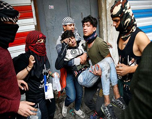 شاهد : اطلاق الرصاص الحي في احتجاجات  بغداد لذي قار