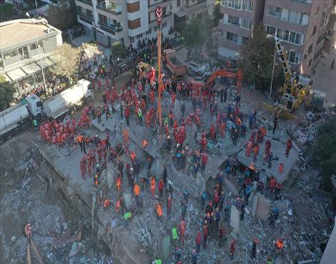 """""""آفاد"""" التركية: ارتفاع ضحايا زلزال إزمير إلى 62"""