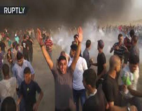 مواجهات الفلسطينيين مع القوات الإسرائيلية على حدود غزة