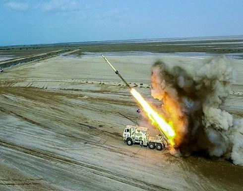 """شاهد : إيران تطلق صواريخ من """"عمق الأرض"""" لأول مرة ضمن تدريبات"""