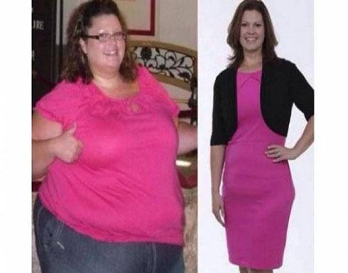 صورة . . خسرت 100 كيلو من وزنها وهي تشاهد شرائط الفيديو..!