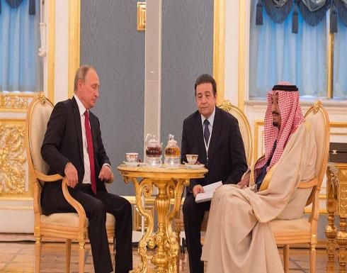 الملك سلمان يبحث مع بوتين مجالات التعاون والتنسيق