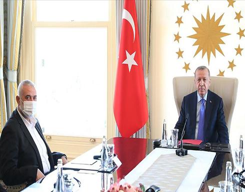 الرئيس أردوغان يستقبل هنية في إسطنبول