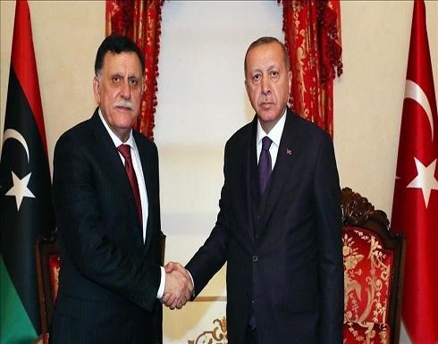 أردوغان والسراج يبحثان خطوات تنفيذ مذكرتي التفاهم بين البلدين