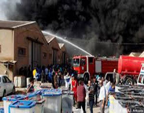 العراق... حريق في مخزن صناديق الاقتراع
