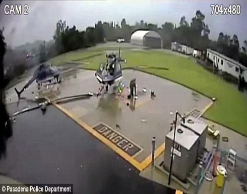 شاهد لحظة تصادم طائرتي هليكوبتر  (فيديو)