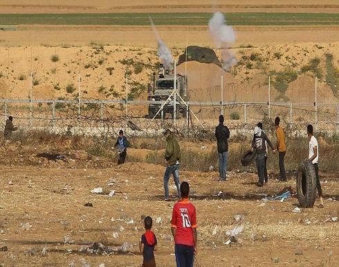 إصابة 8 فلسطينيين إثر اعتداء الجيش الإسرائيلي على مسيرات العودة