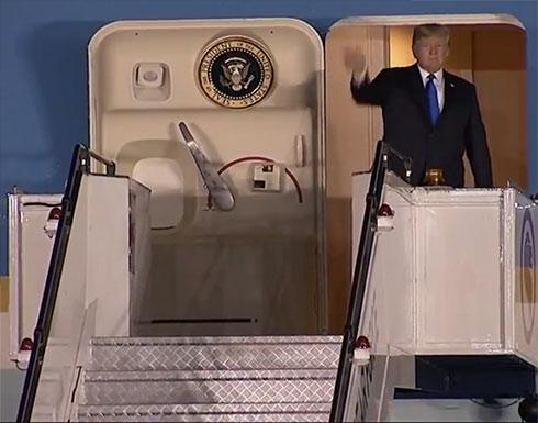 ترامب يصل إلى سنغافورة للقاء كيم.. فيديو
