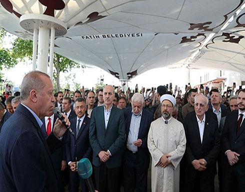 شاهد : كلمة الرئيس رجب طيب اردوغان اثناء صلاة الغائب على روح محمد مرسي