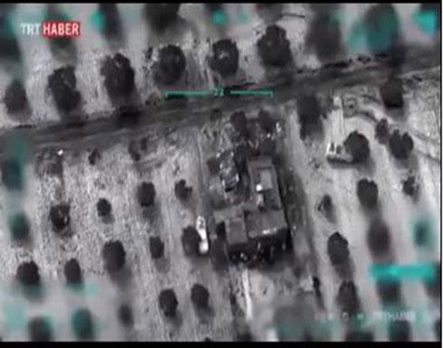 شاهد : قصف الجيش التركي مواقع للنظام السوري
