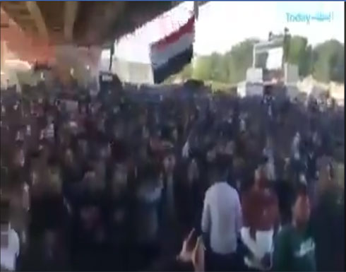 شاهد : العراق ... بابل تهتف ضد قاسم سليماني