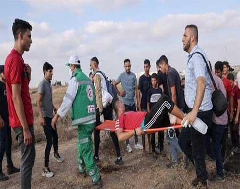 إصابة 23 فلسطينيا خلال تفريق الجيش الإسرائيلي مسيرة سلمية شرق غزة