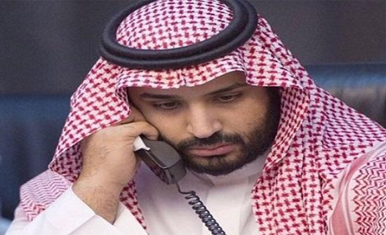 الامير حسين يتلقى اتصالا من ولي العهد السعودي الامير محمد بن سلمان