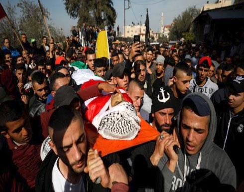 تشييع جثمان شهيد فلسطيني قتله الاحتلال بجنين