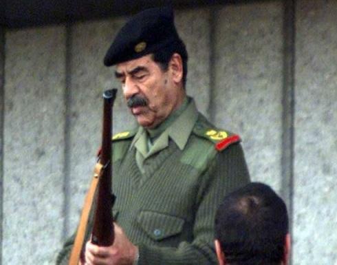بالصورة : تذكار لصدام حسين يثير الغضب في لندن