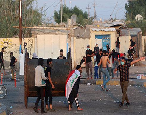 بالفيديو : اشتباكات بين المتظاهرين والأمن في بغداد.. رصاص حي وقنابل غاز