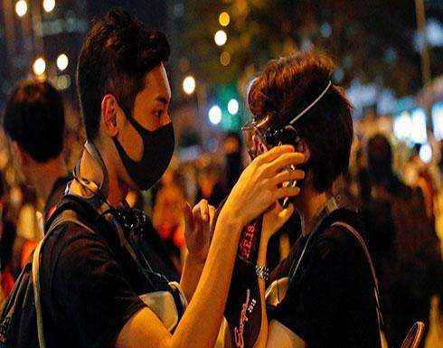 """""""ذكرى 11 سبتمبر"""" تعلق احتجاجات هونغ كونغ"""