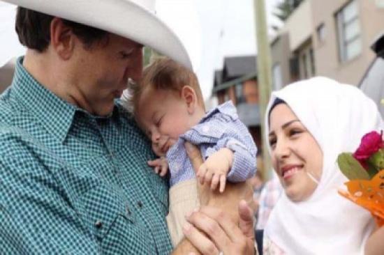 الرضيع السوري جاستين ترودو يلتقي برئيس الوزراء الكندي