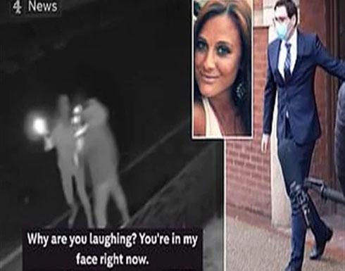 بالفيديو .. ضابط مخمور يهاجم امرأة بهمجية بدون سبب في بريطانيا