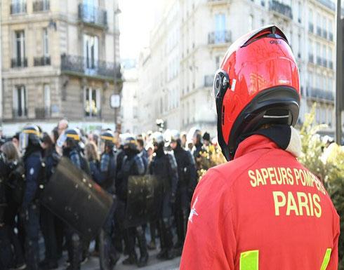 """بالفيديو : اعتقالات واشتباكات بين الشرطة و""""السترات الصفراء"""" في باريس"""
