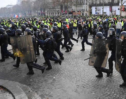 """شاهد .. احتجاجات باريس """" السترات الصفراء """""""