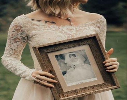 بالصور: ارتدت فستان زفاف جدتها بعد 55 عاماً.. وكانت المفاجأة!