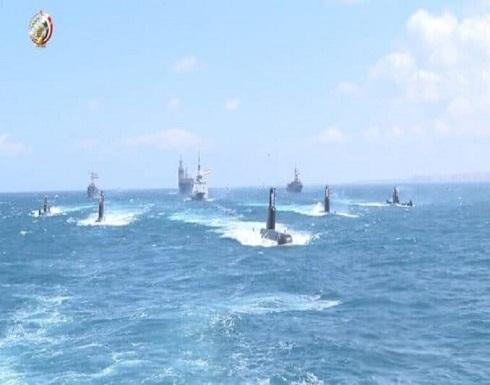 البحرية المصرية والفرنسية تنفذان تدريبا بالبحر المتوسط