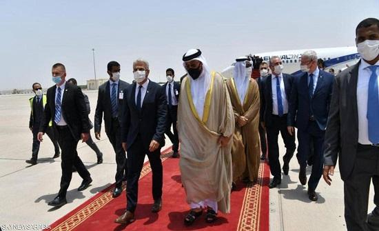 وزير الخارجية الإسرائيلي يصل إلى الإمارات