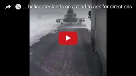 فيديو لا يصدق.. طائرة عسكرية تهبط على الشارع لسؤال غريب