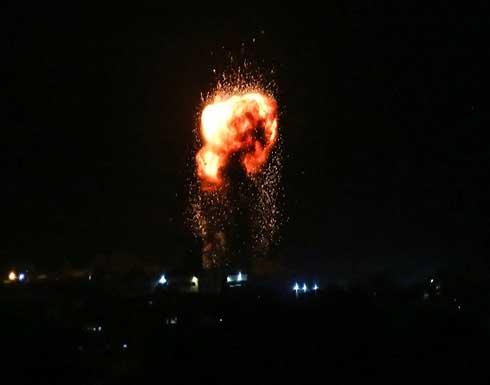الاحتلال يقصف موقعا للمقاومة جنوب قطاع غزة .. بالفيديو