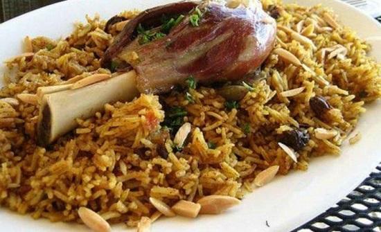 حضري كبسة موزات اللحم الخليجية كما المطاعم
