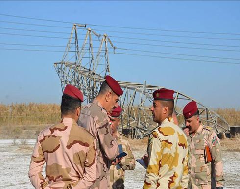 العراق: عناصر خارجة عن القانون وراء استهداف برج كهرباء في جرف الصخر