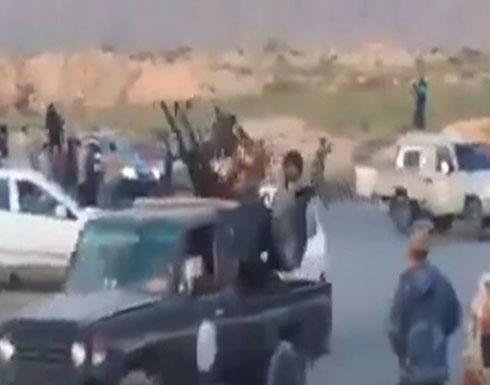 """بالفيديو : """"قوات مصراتة"""" تتوجه إلى طرابلس لمواجهة الجيش الوطني"""