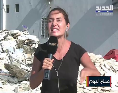 شاهد : الاعلامية اللبنانية كارين سلامة تنهار على الهواء