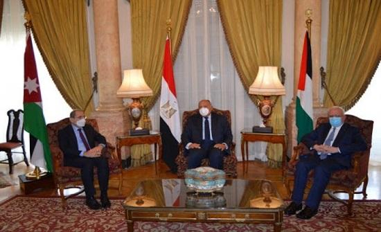 بيان مشترك لوزراء خارجية الأردن وفلسطين ومصر حول القضية الفلسطينية