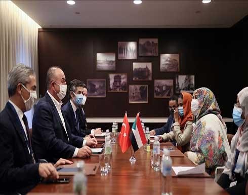 تشاووش أوغلو: دعم تركيا للسودان سيستمر