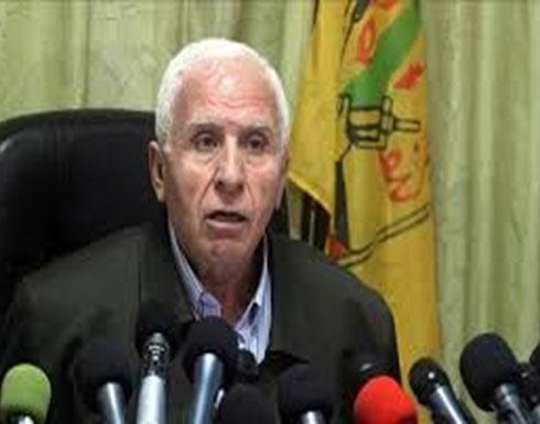 """الأحمد: """"حماس"""" تبحث عن تهدئة بمضمون سياسي"""