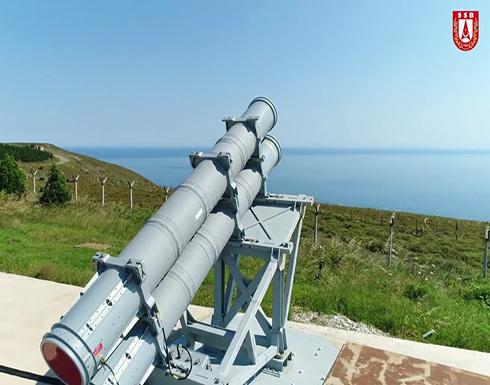 تركيا تختبر بنجاح إطلاق صاروخ محلي مضاد للسفن .. بالفيديو