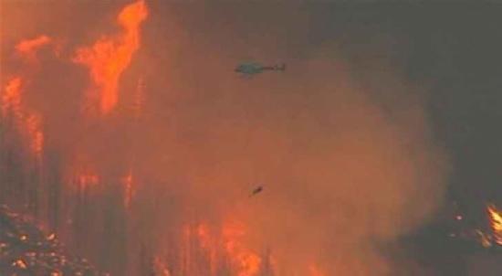 كندا: تحطم طائرة أثناء إطفائها حريقا في الغابات