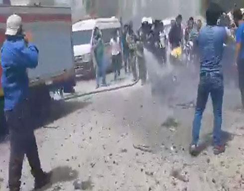 شاهد : انفجار سيارة مفخخة في إدلب بسوريا