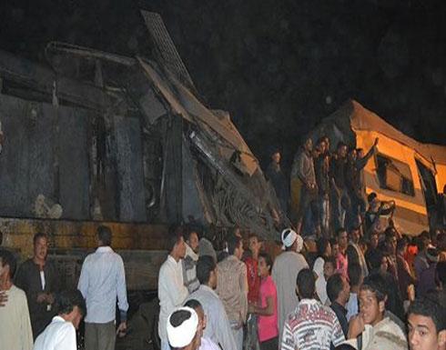 مصر: اصطدام قطارين وخروج 3 عربات عن القضبان فى سوهاج .. فيديو